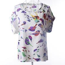 New 2015 Women Blouses Hot Selling Loose Animal Printed Chiffon Blouse Tops Autumn-Summer Dot/Heart