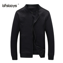Hot Sale Slim Thin Men Jacket 2016 spring Autumn winter Fashion Clothes of high quality cotton fabric Jackets ZIP closure