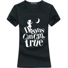 Dreams Can Come Ture 2016 summer funny print t shirt women cotton casual tee shirt femme harajuku fashion brand kawaii punk tops