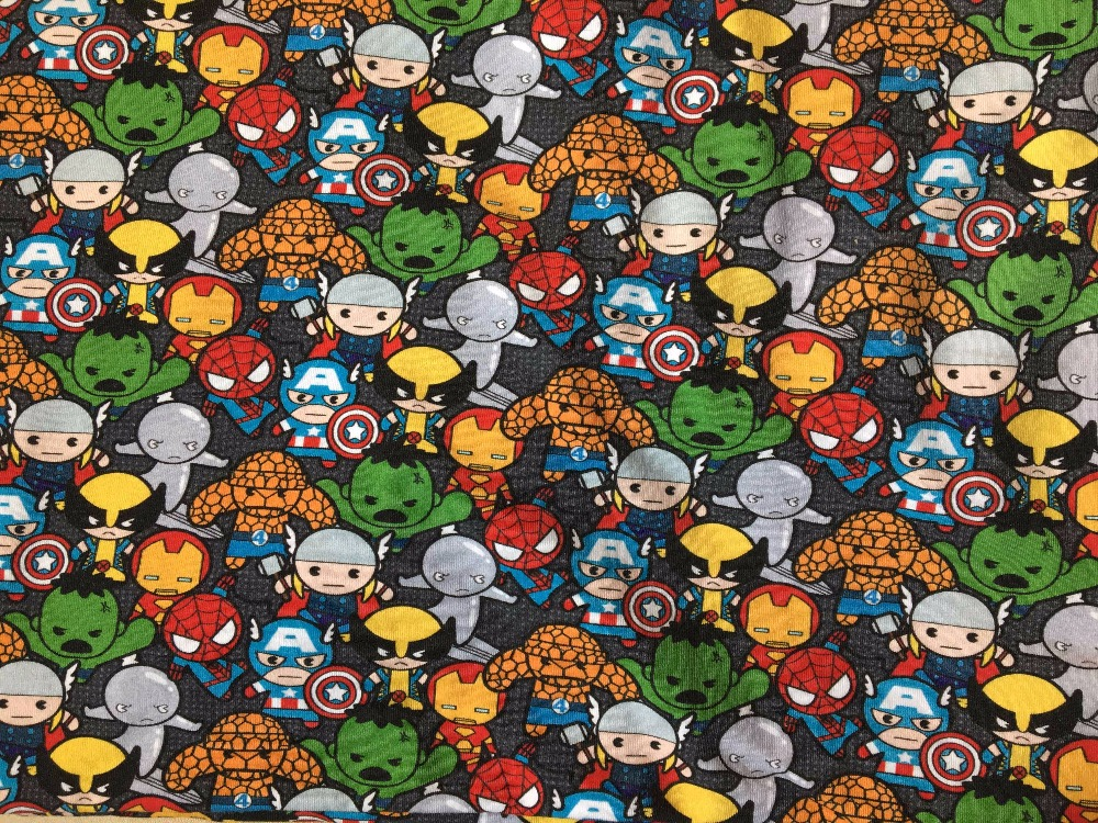 8 characters knitted printed cotton fabric make clothes for Kids character fabric