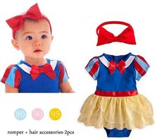 Snow White Princess romper,Baby girl romper,baby girl clothes,baby clothing,new 2015,summer,newborn,6-24M baby costume(China (Mainland))