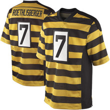 Best quality jersey Men's 7 Ben Roethlisberger 12 Terry Bradshaw 43 Troy Polamalu 50 Ryan Shazier 84 Antonio Brown elite jerseys(China (Mainland))