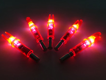 6PCS lot Lighted Nock for Compound Bow LED Lighted Arrow Nock Red For ID 6 2mm