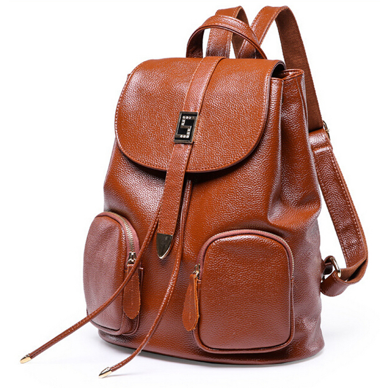 Fashion women spilt leather backpacks high quality school bag backpack famous brand women rucksack women bags B51014A(China (Mainland))