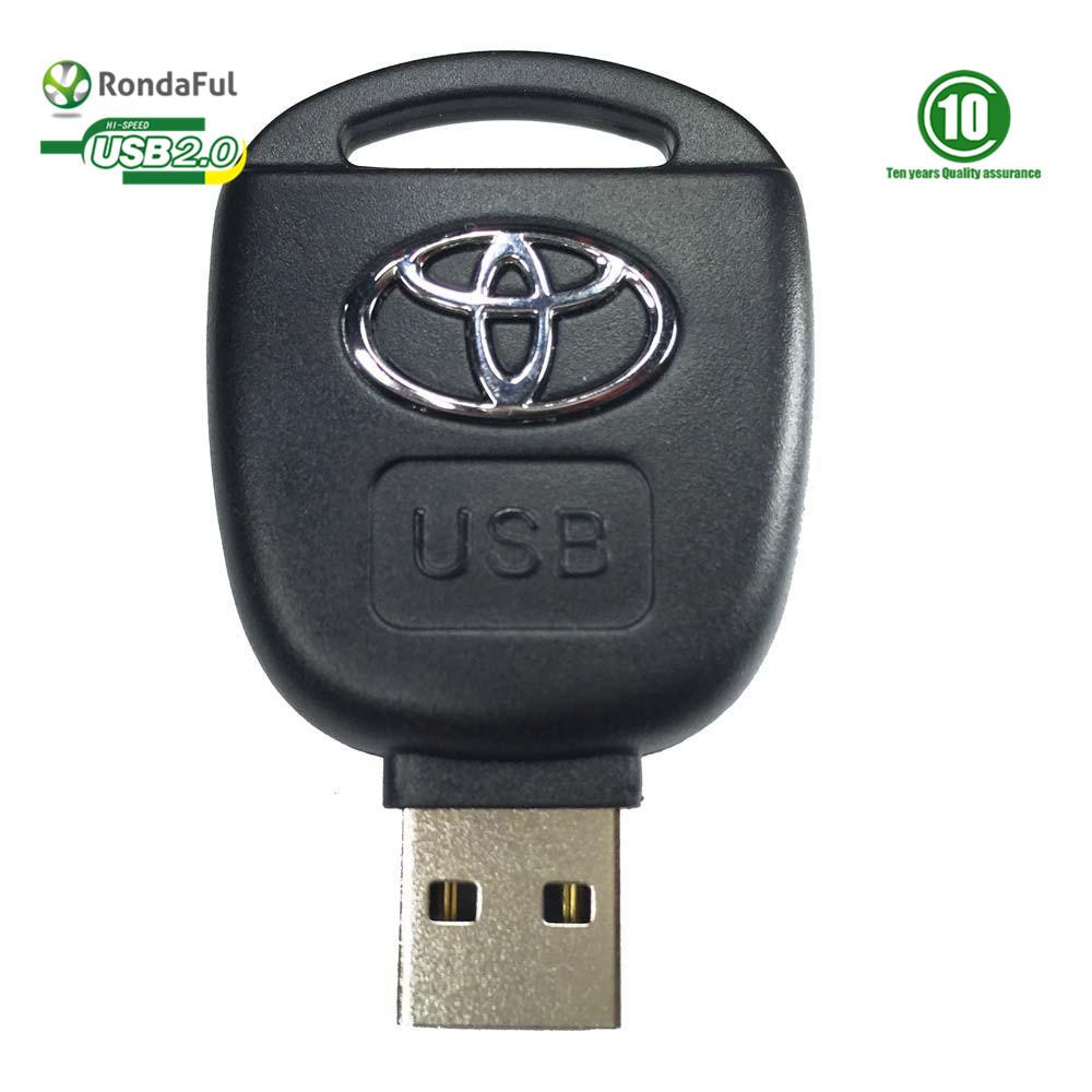 HOT Car Key Toyota USB Flash Drive 8GB 16GB Individuation USB Key Pendrive Card Cartoon USB