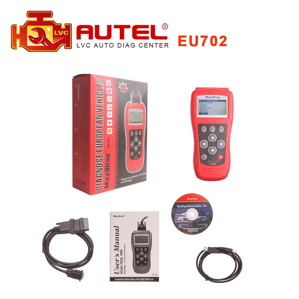 2016 Top Selling AUTEL Maxidiag EU702 OBD2 II EOBD CODE SCANNER READER DHL free shipping(China (Mainland))