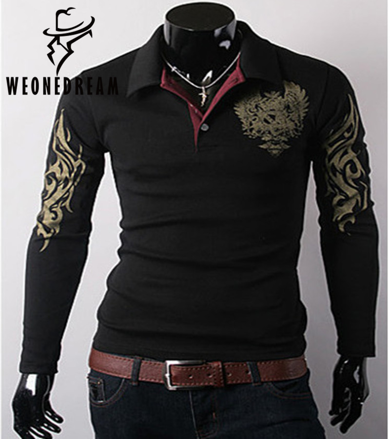 2016 new spring eagle personalized printing men 39 s long for Custom printed long sleeve t shirts