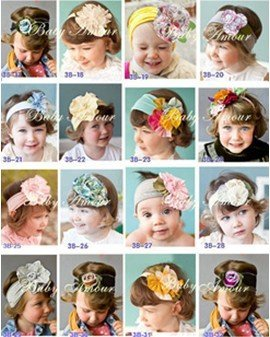 Free shipping 48designs Mixed! HOT Headband!! 10pcs/lot baby headband flower cotton headband baby head accessories