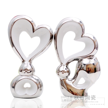 Personalized ceramic gift home decoration abstract crafts silver plated fashion rascal rabbit