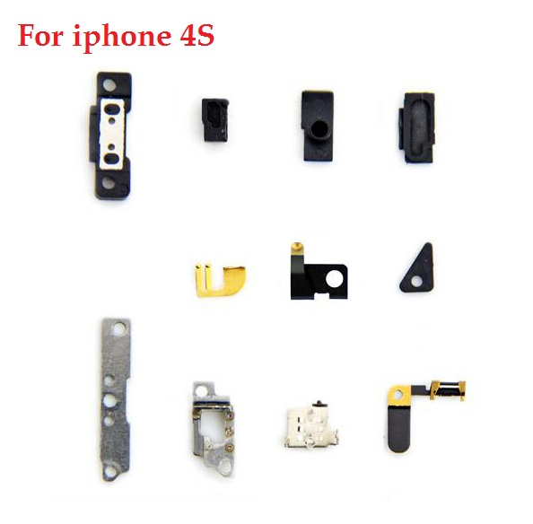 "11pcs/set small component For Apple iPhone 4S 3.8"" small fitting Disassemble parts Replacement + retail package(China (Mainland))"