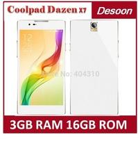 Original Coolpad Dazen X7 Snapdragon 801 Quad Core 2.3GHz 3GB RAM 16GB ROM 5.2 Inch Android 4.4 Mobile Phone/Koccis(China (Mainland))
