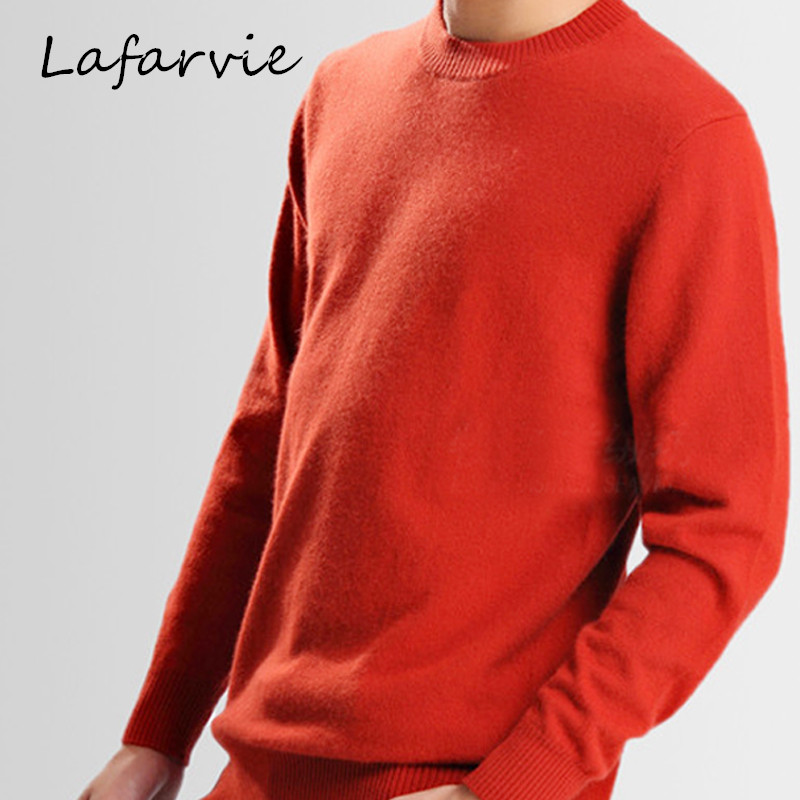 Lafarvie Mens Pullovers 2015 New Arrival Fall & Winter Cashmere Sweater Men Long Sleeve Single Breasted Casual O-Neck Knitwear(China (Mainland))