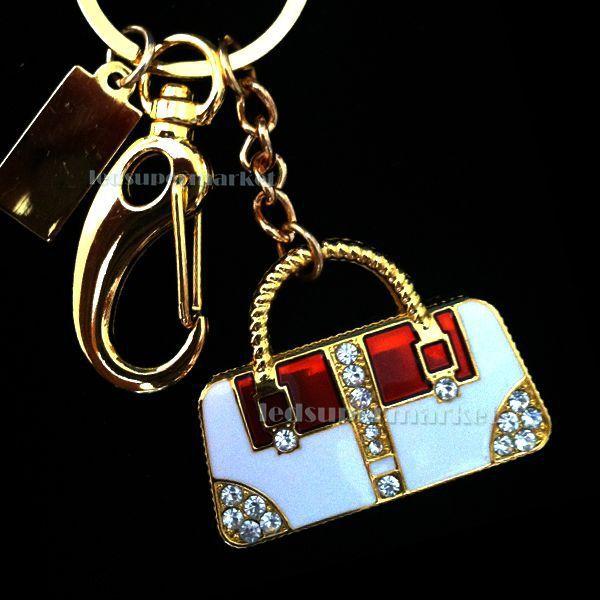 Hot Sale Exquisite Crystal White handbag USB 2.0 Flash Memory Stick Pen Drive 2GB 4GB 8GB 16GB 32GB