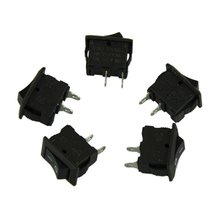 Delicate 5 x AC 250V 3A 2 Pin ON/OFF I/O SPST Snap in Mini Boat Rocker Switch Hot Selling