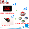 Wireless Calling Buzzer Pager System With Best Price Discount 433 92MHZ For Restaurant Pager 1 display