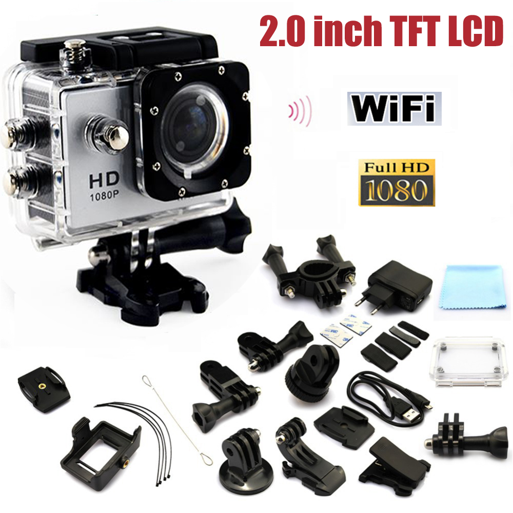 2016 New Arrival Go Pro Sport Action Camera Sj4000 W9 WiFi 1080P Full HD 2.0 LCD Display 12MP Diving 30M Waterproof Camera<br><br>Aliexpress