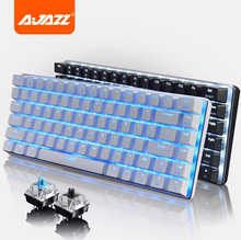 Ajazz AK33 Backlight Alloy Case 75% 82 Keys Zorro MX Blue/Black USB N Key Rollover Mechaincal Gaming Keyboard Gamer Dota(China (Mainland))