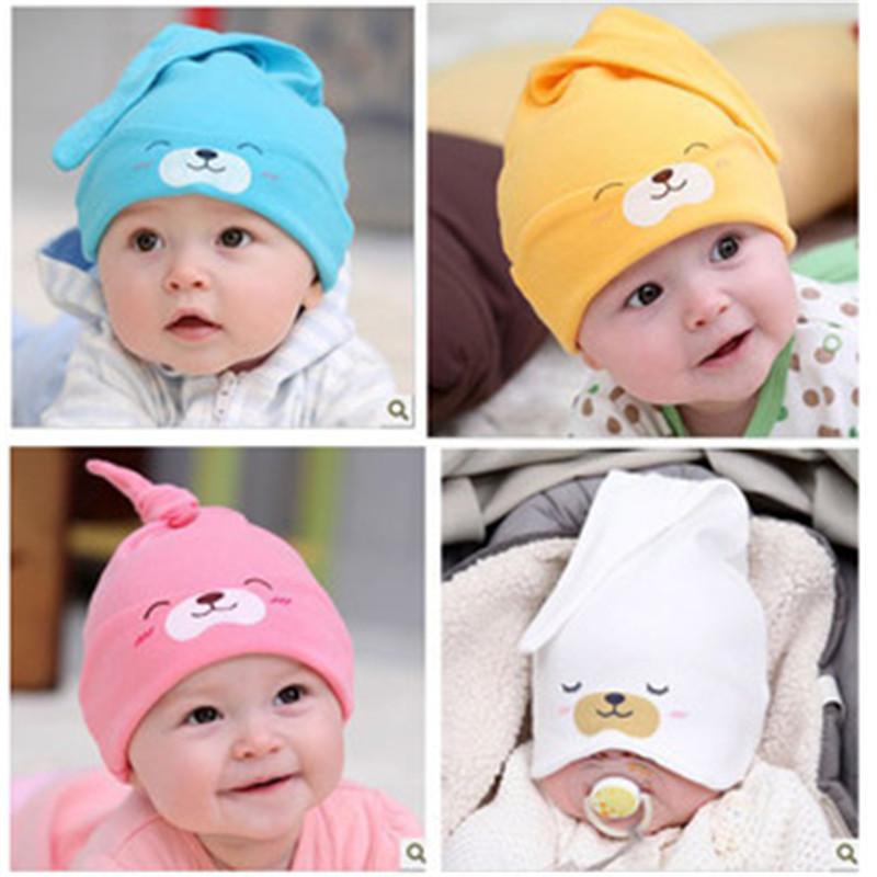 4 Colors Child Sleep Hat Newborn Cap The Baby Cotton Cap Baby Kit Lens Cap Baby Hat Winter(China (Mainland))
