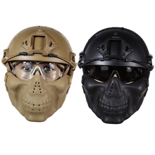 Brand New Professional Outdoor CS Helmet with Protective Goggle Pad Pararescue Jump Skiing Type helmet Military Tactical Helmets(China (Mainland))