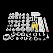 1Set 68Pcs Fondant Cake Decorating Sugar craft Plunger Tools Cookies Mold Mould High Quality new arrival(China (Mainland))