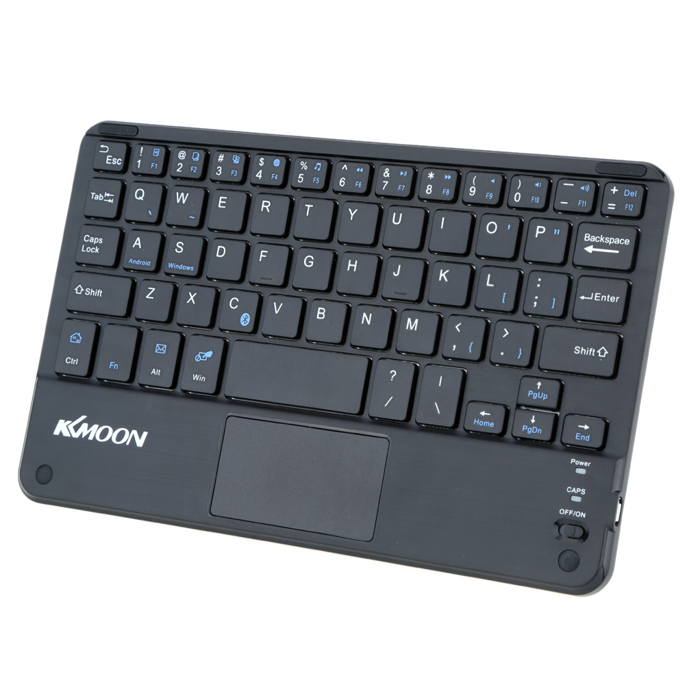 KKMOON 59 Keys Keyboard Ultra Slim Thin Mini Bluetooth Keyboard with Touch Pad Panel for Android Windows PC Tablet Smartphone(China (Mainland))