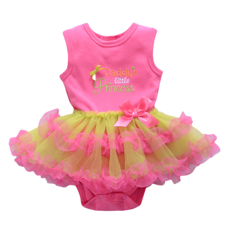 Boutique Baby Girl Dress Summer Girls Infant Dress Clothes Sleeveless Vest Mesh Party Dresses 2016 New Kids Newborn Clothing(China (Mainland))