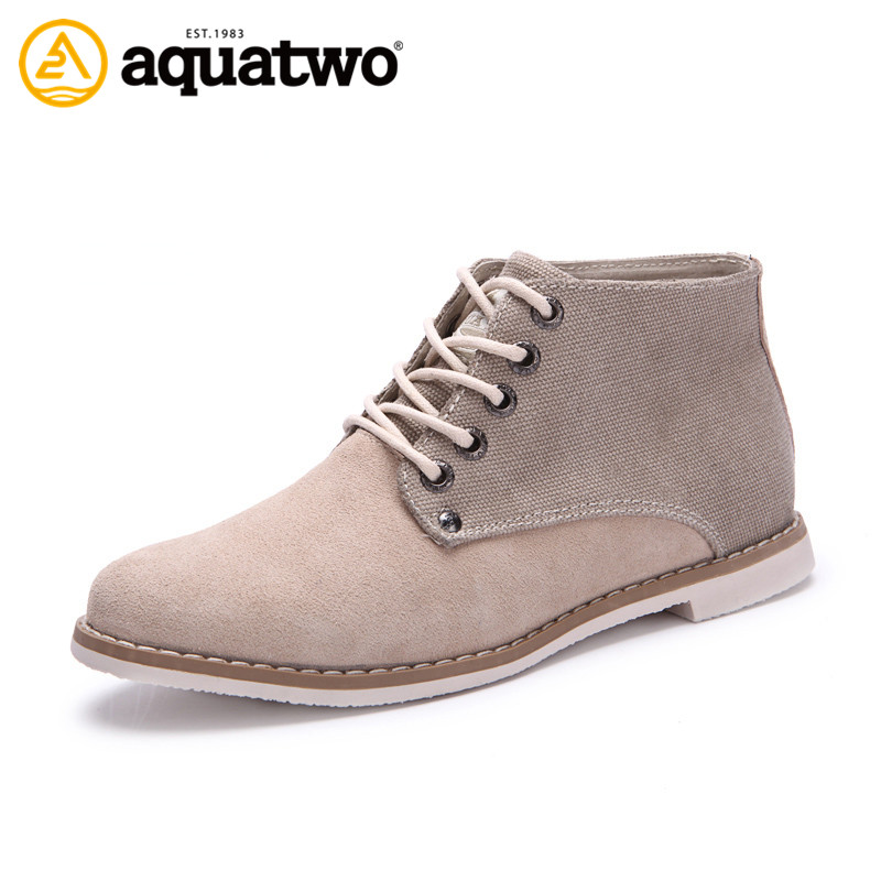 AQUATWO New Design High Quality Women Casual Boots Genuine Leather Lace Up Brand Casual Shoes US4-7.5# Oxford Style Women's Boot(China (Mainland))