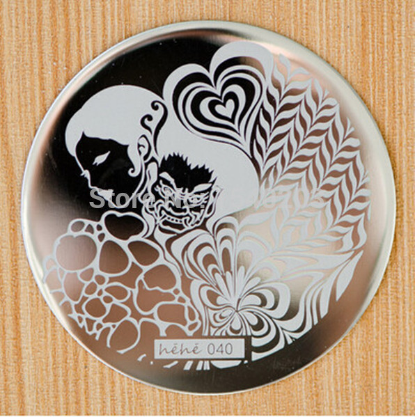 Mother embracing Heart Pattern etc 60 Design Plate hehe 1-60 Series Nail Art Image Konad Print Stamp Stamping Manicure Template(China (Mainland))
