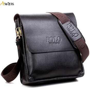 Awen - Famous Brand Classic Design Casual Business Leather Mens Bags,Promotional Leisure High Quality Messenger Bag Shoulder Bag