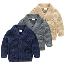Baby twist sweater 2016 autumn and winter clothing Korean version of the new children's knitted coat my-0953 boy
