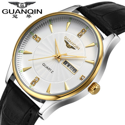 Top Brand Luxury GUANQIN Fashion Quartz Mens Watches Waterproof Luminous Wristwatches Watch Men Relogios Masculino