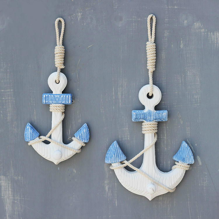 Small Nautical Wall Decor : Small size mediterranean style anchor wall hangings