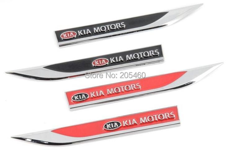 Metal Side emblems  KIA motors CAR EMBLEMS For  KOREA KIA Rio,Sorento,Sportage,Optima,Forte,Cerato,Soul  accessories<br><br>Aliexpress