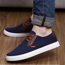 FREE SHIPPING spring and summer men's casual canvas shoes England to help low student shoes breathable male shoes solid