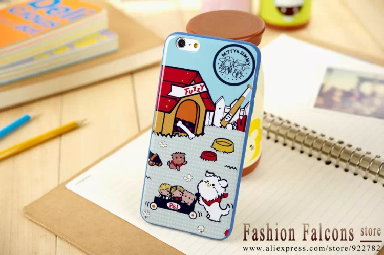 2015 New TPU cute Pattern Sanrio Sam Penguins phone shell 4.7/5.5 inch case for iphone 6 6 plus case Free shipping(China (Mainland))