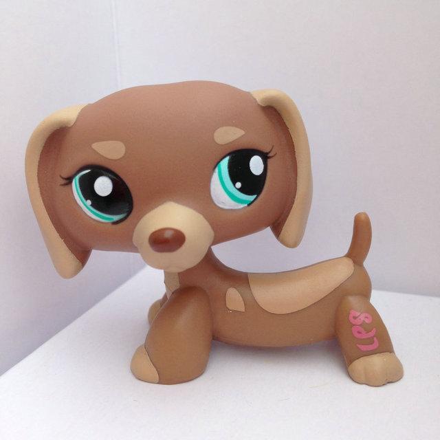 Pet Shop Животные Куклы LPS Рисунок Ребенка Игрушки Gril Такса Собака DWA354