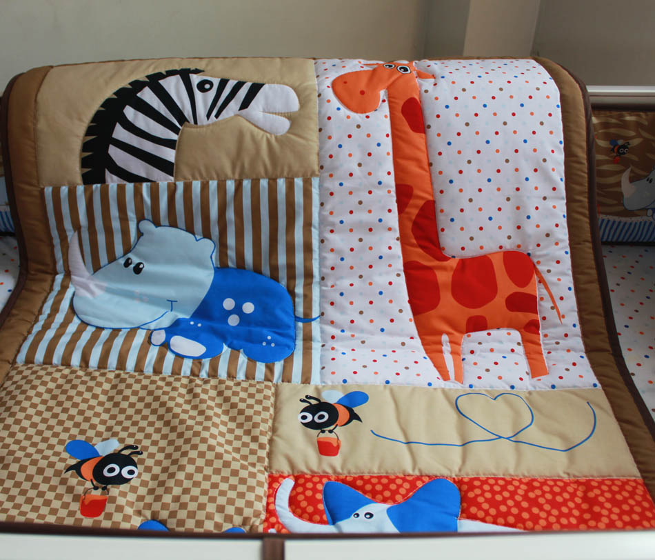 Moose 6 Piece Crib Set Moose Bedding Sets Pro...
