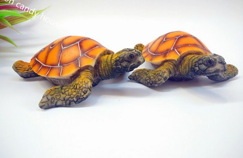 Fish tank aquatic aquarium little turtle aquarium resin Turtle decorations for home