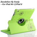 Dandelion 360 Degree Rotating Stand Leather Case Smart Cover For iPad Air 2 iPad 6 case