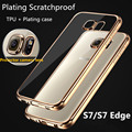 Luxury Plating TPU Soft Case For Samsung Galaxy S7 S7 Edge Ultra Thin Clear Transparent back