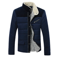 2014 New Arrival Men's Winter Jacket 100% Cotton Casual Coat Thermal Outerwear Plus Size High Quality
