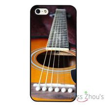 Acoustic Guitar Red Colour Wood back skins mobile cellphone cases for iphone 4/4s 5/5s 5c SE 6/6s plus ipod touch 4/5/6