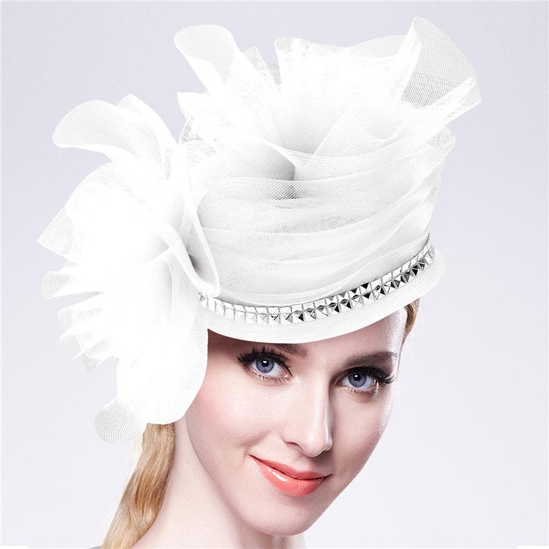 Women Chic Hair Fascinators Hat Wedding Party Church Headpiece Fashion Headwear Fancy Elegant Hair Accessories 2016 New F2207(China (Mainland))