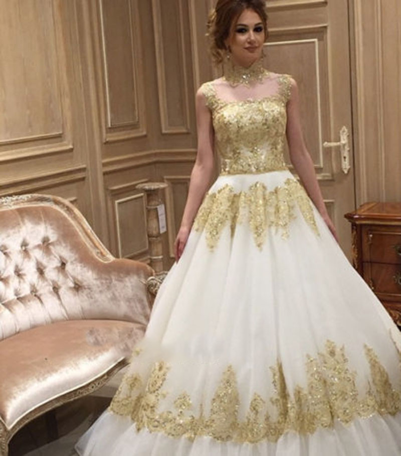 Online get cheap gold ball gown alibaba for Golden dresses for a wedding