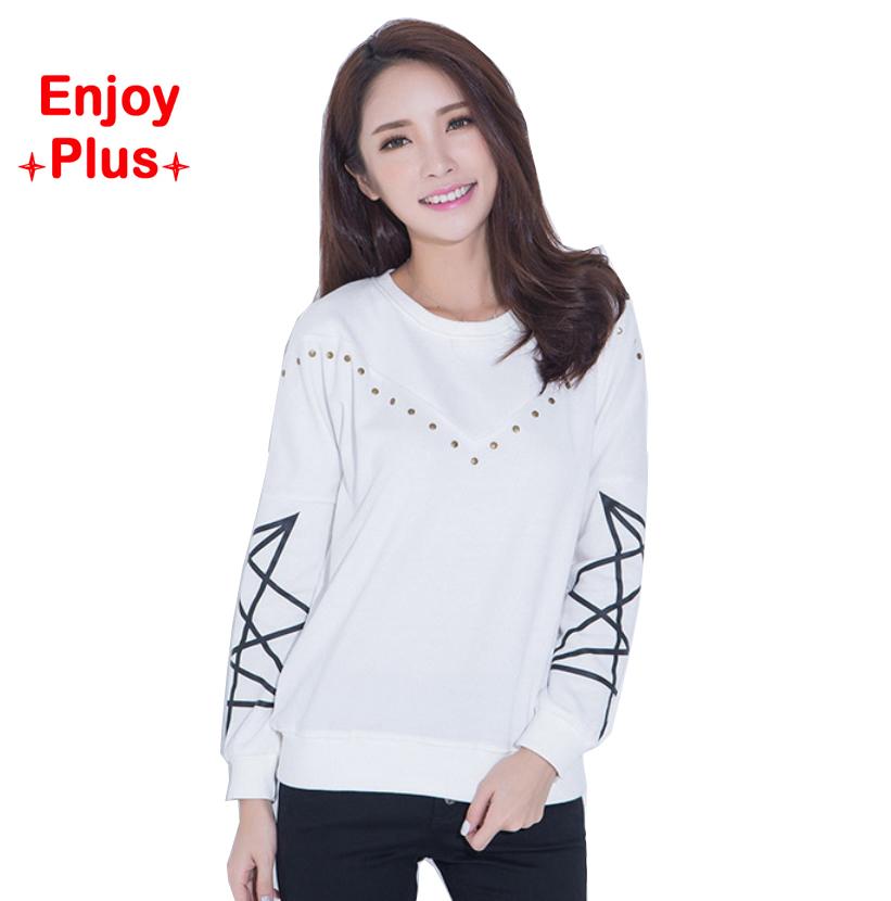 chest 104-128cm high quality XL- 5XL autumn 2015 black and white <font><b>basice</b></font> <font><b>long</b></font> <font><b>sleeve</b></font> <font><b>t</b></font> <font><b>shirt</b></font> women large size cotton loose casual