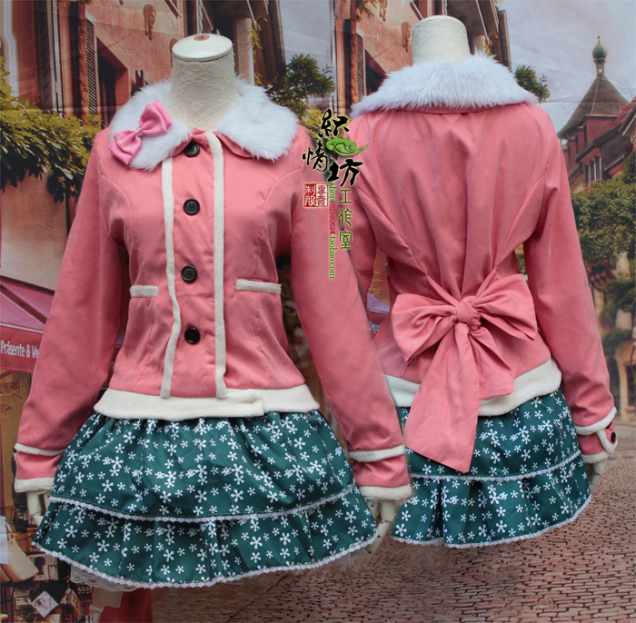Cute LOVE LIVE Cosplay Minami Kotori Winter Warm Coat+Snow Skirt Outfit CostumesОдежда и ак�е��уары<br><br><br>Aliexpress