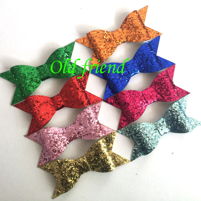 2015 New Sytle Glitter bows Kid's Summer hair bows hair accessory 30pcs/lot 13 color IN STOCK Free Shipping(China (Mainland))