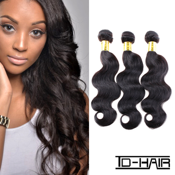 Best Selling 6A remy brazilian virgin hair body wave human hair weave bundles unprocessed natural black color 1B TD HAIR product