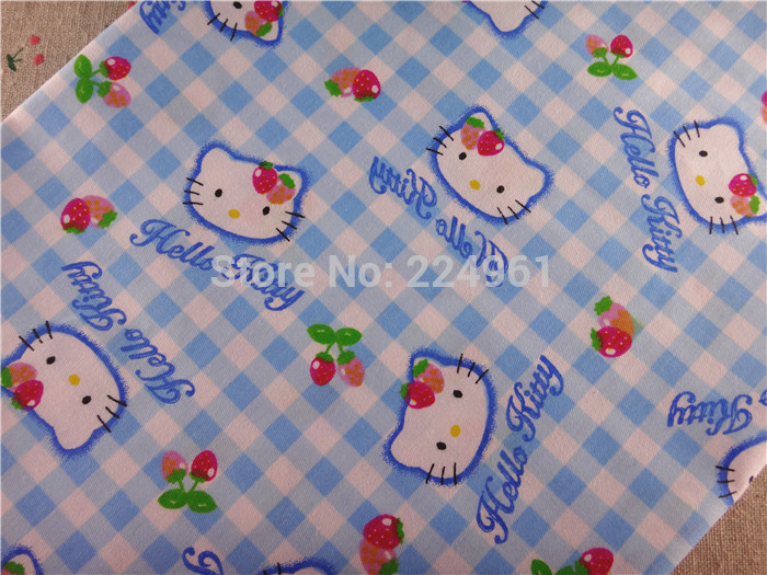 New arrival 50cm*150cm Hello Kitty 100% Cotton Fabric for Sewing Patchwork Bedding Fabric DIY Baby Cloth Textiles 15010328(China (Mainland))
