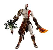 God of War 1pcs 7.5″ NECA God of War Kratos in Golden Fleece Armor with Medusa Head PVC Action Figure Collection Model Toy
